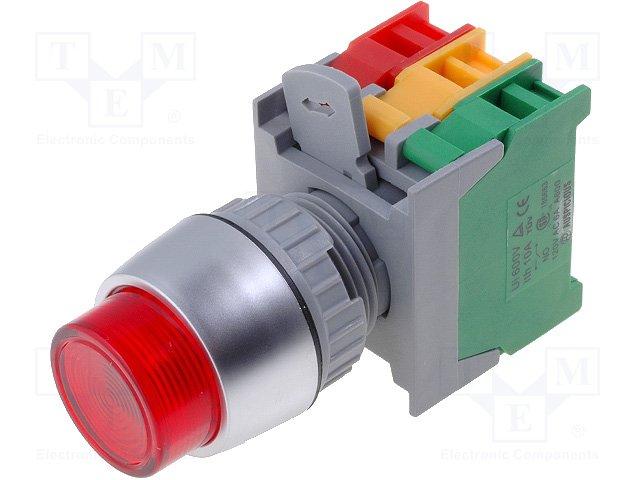 Переключатели панельные стандартные 22мм,AUSPICIOUS,LBL22-1O/C R, W/O LAMP