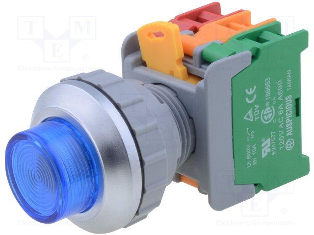 Переключатели панельные стандартные 30мм,AUSPICIOUS,LXL30-1O/C BL, W/O LAMP
