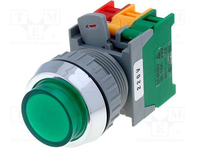 Переключатели панельные стандартные 30мм,AUSPICIOUS,LXL30-1O/C G, W/O LAMP