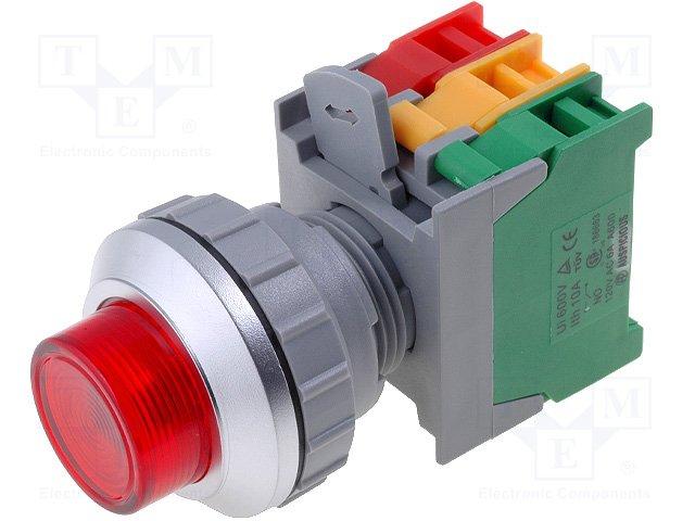 Переключатели панельные стандартные 30мм,AUSPICIOUS,LXL30-1O/C R, W/O LAMP
