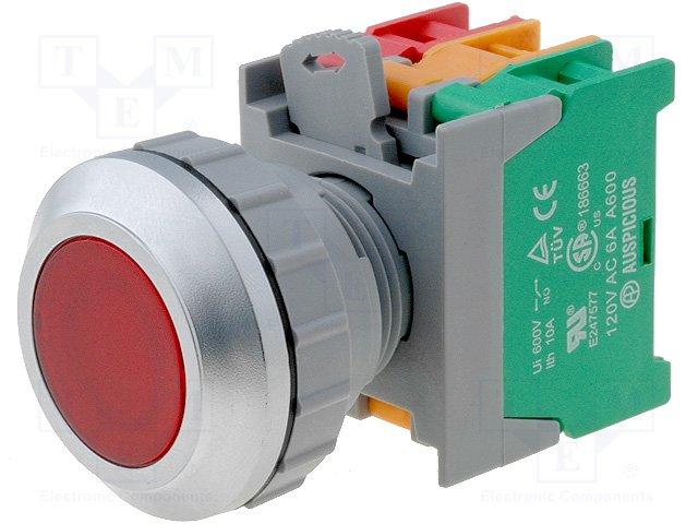 Переключатели панельные стандартные 30мм,AUSPICIOUS,LXB30-1O/C R, W/O LAMP
