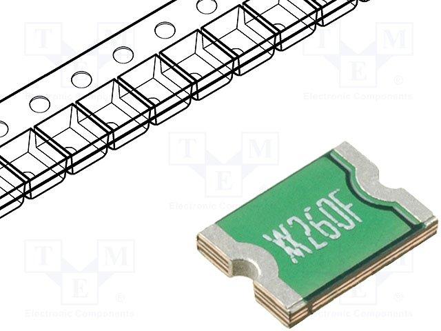 Предохранители полимерные SMD,TE CONNECTIVITY,MINISMDC260F-2
