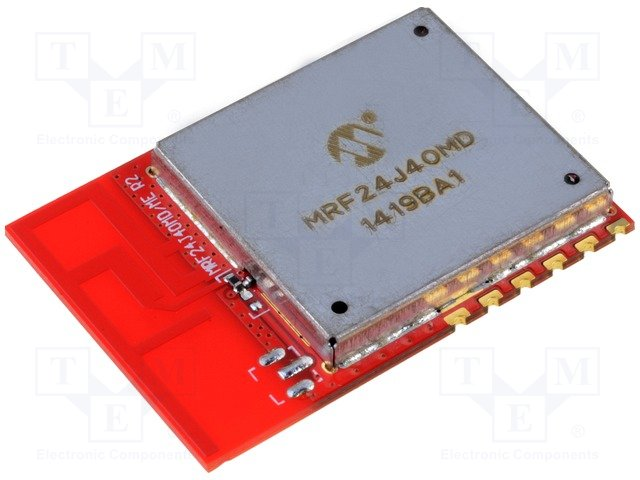 Модули связи RF,MICROCHIP TECHNOLOGY,MRF24J40MD-I/RM