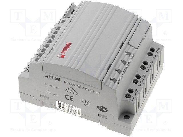 Реле прогр. основные модули,RELPOL,NEED-12DC-01-08-4R