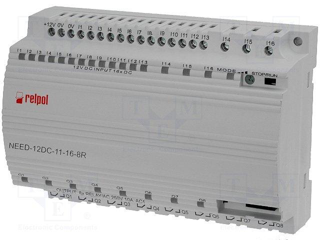 Реле прогр. основные модули,RELPOL,NEED-12DC-11-16-8R