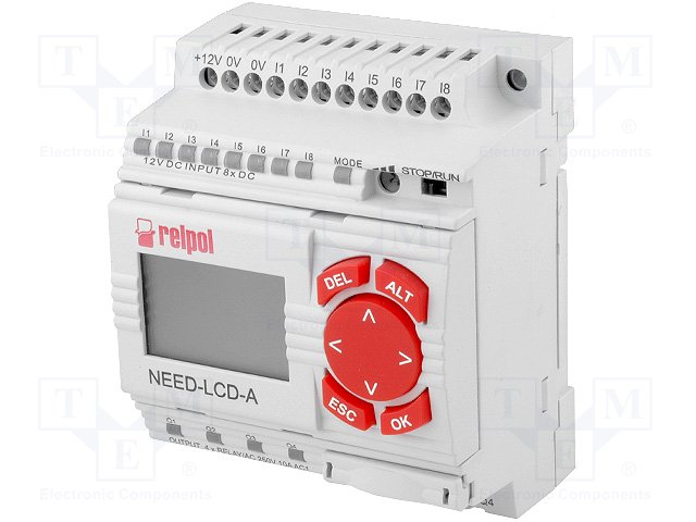 Реле прогр. основные модули,RELPOL,NEED-12DC-22-08-4R-D