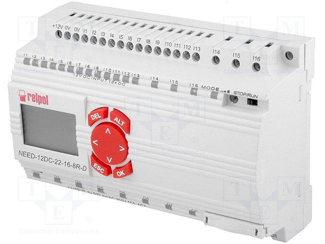 Реле прогр. основные модули,RELPOL,NEED-12DC-22-16-8R-D