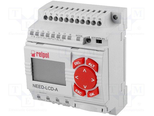 Реле прогр. основные модули,RELPOL,NEED-230AC-22-08-4R-D