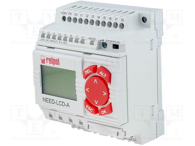 Реле прогр. основные модули,RELPOL,NEED-24DC-22-08-4R-D