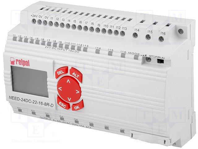 Реле прогр. основные модули,RELPOL,NEED-24DC-22-16-8R-D