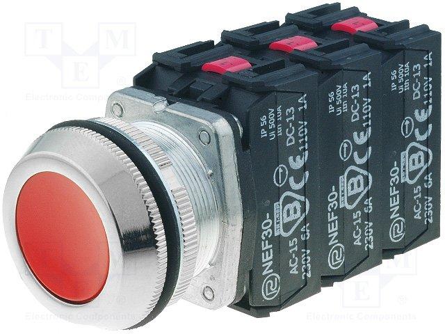 Переключатели панельные стандартные 30мм,PROMET,NEF30-KC3X3Y