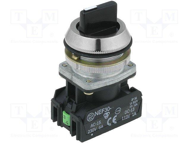 Переключатели панельные стандартные 30мм,PROMET,NEF30-TPDSXY