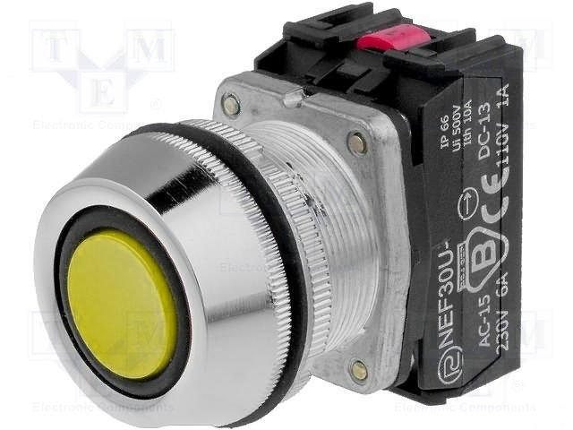 Переключатели панельные стандартные 30мм,PROMET,NEF30-UKGXY