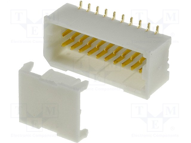 Разъeмы сигнальные растр 1,00мм,JOINT TECH,A1001WV-S-2X10P