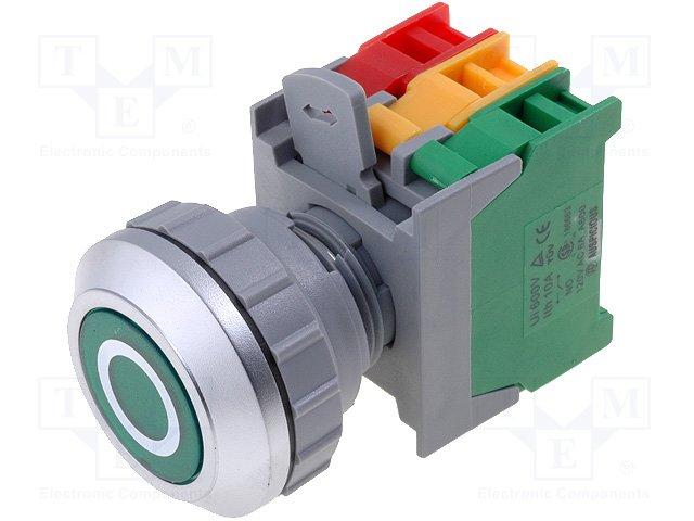 Переключатели панельные стандартные 30мм,AUSPICIOUS,PFL30-1O/C G, W/O LAMP