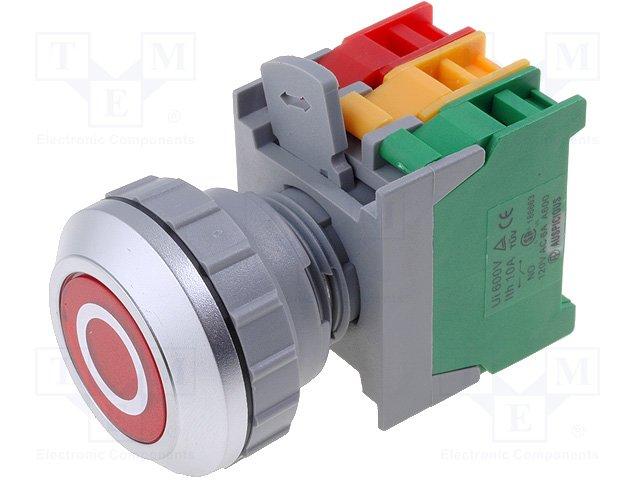 Переключатели панельные стандартные 30мм,AUSPICIOUS,PFL30-1O/C R, W/O LAMP
