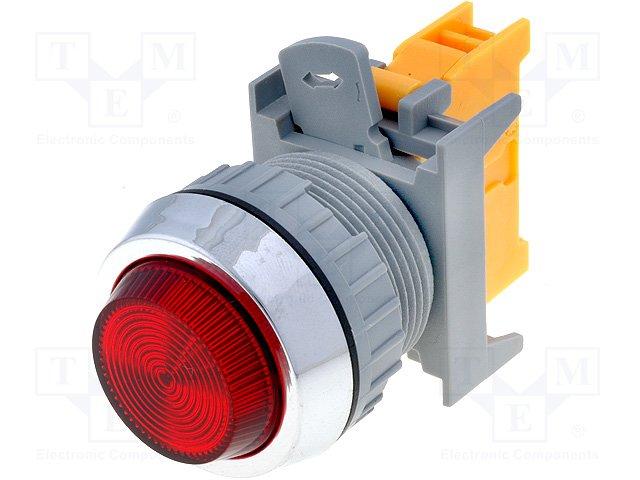 Переключатели панельные стандартные 30мм,AUSPICIOUS,PLN30A R W/O LAMP