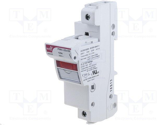 Предохранители - держатель под шину DIN,DF ELECTRIC,485308