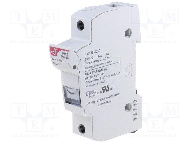 Предохранители - держатель под шину DIN,DF ELECTRIC,485101