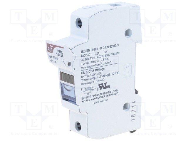 Предохранители - держатель под шину DIN,DF ELECTRIC,485108
