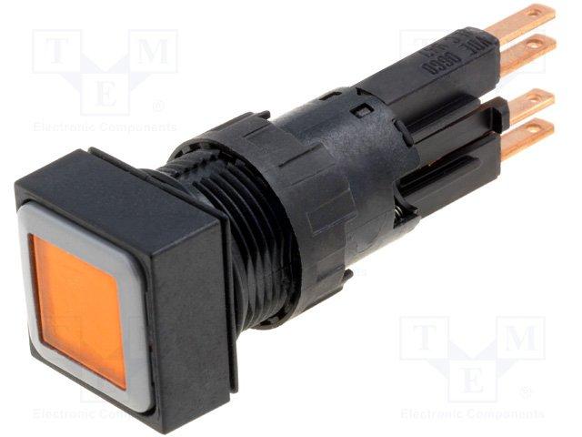 Переключатели панельные стандартные 16мм,EATON ELECTRIC,Q18DR-GE