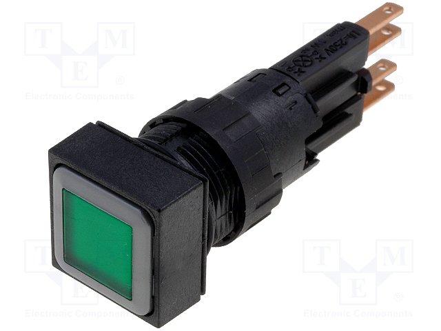 Переключатели панельные стандартные 16мм,EATON ELECTRIC,Q18LTR-GN/WB