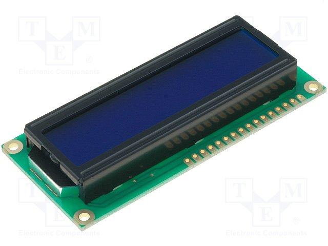 Дисплеи ЖКД буквенно-цифровые,RAYSTAR OPTRONICS,RC1602B-BIW-CSX