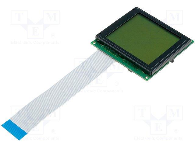 Дисплеи ЖКД графические,RAYSTAR OPTRONICS,RG128128B1-YHW-X