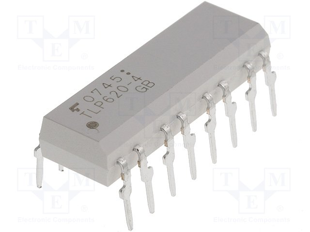 Оптроны транзисторный выход THT,TOSHIBA,TLP620-4