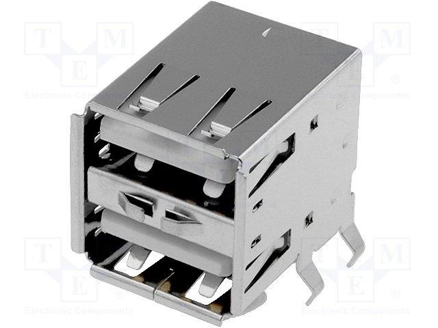 Разъeмы USB и IEEE1394,AMPHENOL,TUEA4F4D3WO