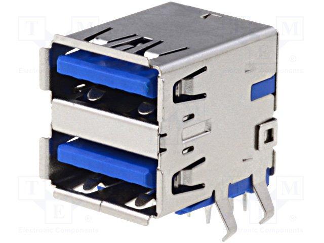 Разъeмы USB и IEEE1394,AMPHENOL,TUEA9FCD0