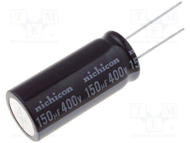 Конденсаторы электролитические THT 105°C,NICHICON,UCY2G151MHD
