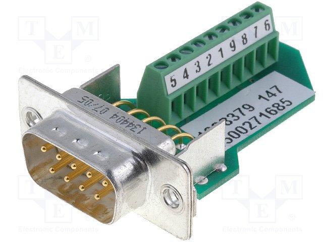 Разъeмы D-Sub,PHOENIX CONTACT,VS-09-ST-DSUB/10-MPT-0,5 1688379