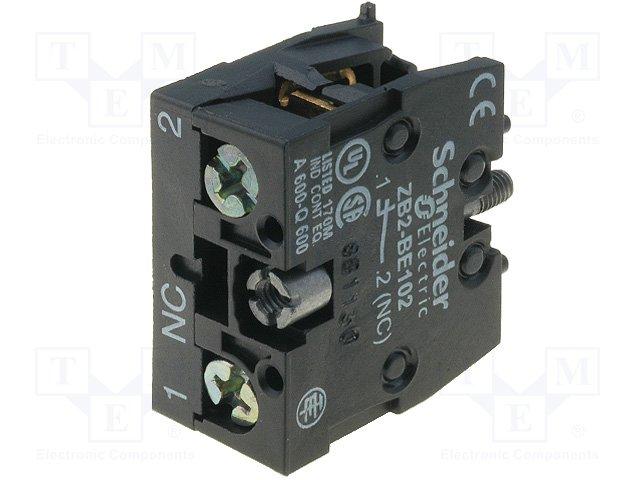 Переключатели панельные стандартные 16мм,SCHNEIDER ELECTRIC,ZB2BE102