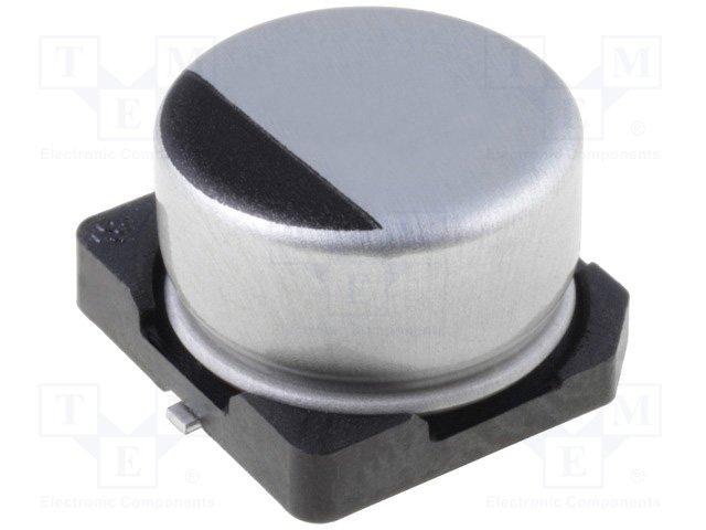 Конденсаторы электролитические SMD 85°C,NICHICON,UWX1C100MCL1GB