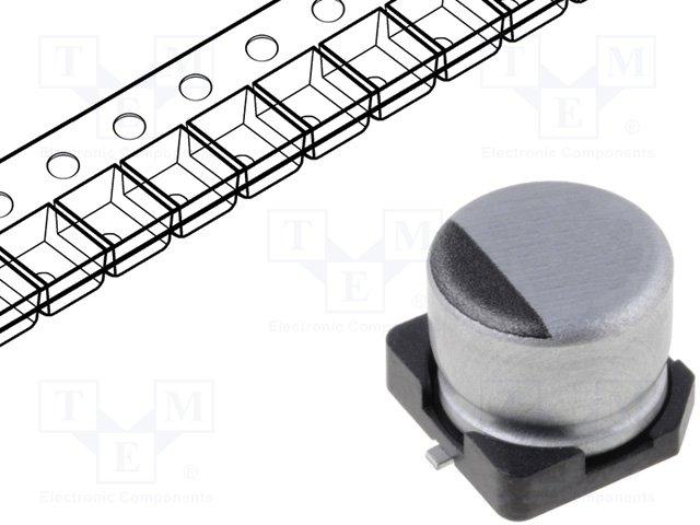Конденсаторы электролитические SMD 105°C,NICHICON,UWT0J470MCL1GB