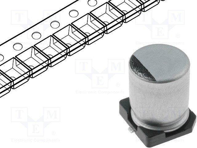 Конденсаторы электролитические SMD 105°C,SAMWHA,RC1E475M04005VR