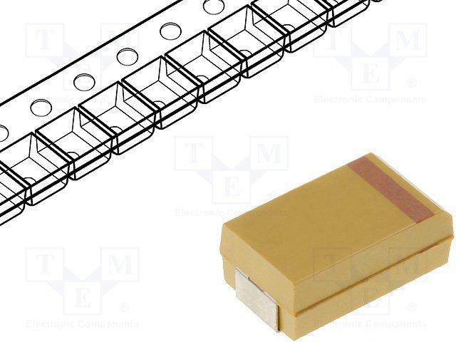 Конденсаторы танталовые SMD,KEMET,T491D476K010AT