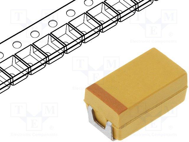 Полимерные танталовые конденсаторы,AVX,TCJC105M063R0300