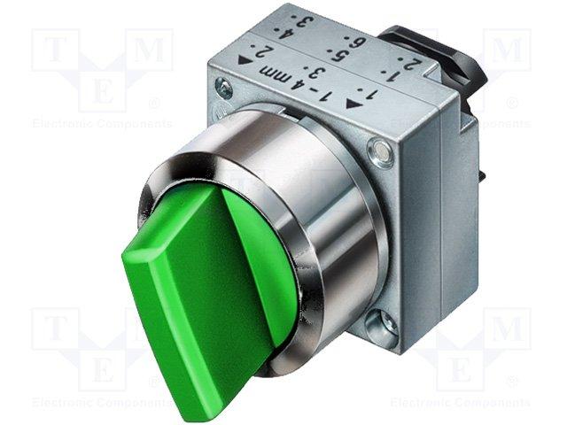 Переключатели панельные стандартные 22мм,SIEMENS,3SB3501-2EA41