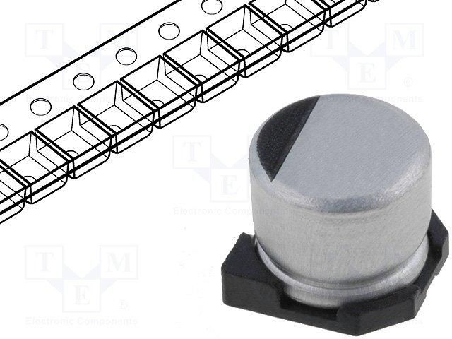 Конденсаторы электролитические SMD 105°C,CE100/16-SMDHT