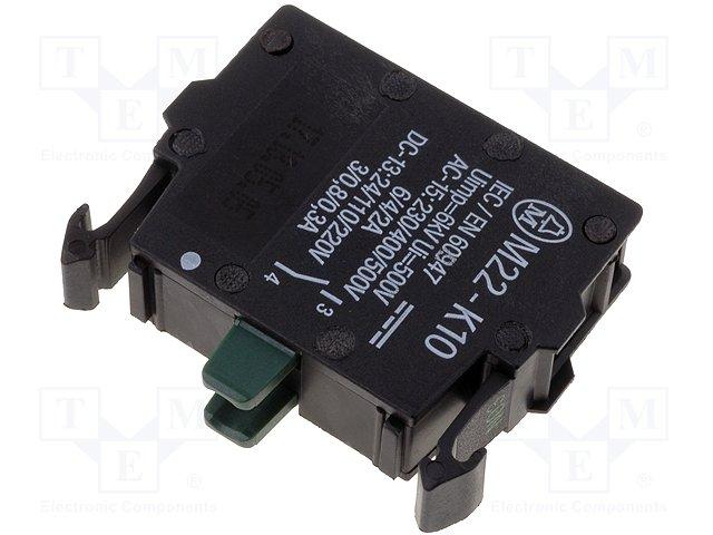 Переключатели панельные стандартные 22мм,EATON ELECTRIC,M22-K10P