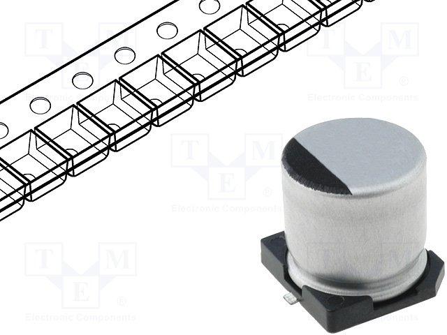 Конденсаторы электролитические SMD 85°C,SAMWHA,SC1H227M10010VR