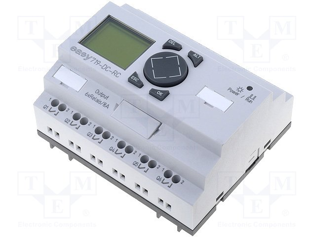 Реле прогр. основные модули,EATON ELECTRIC,EASY719-DC-RC