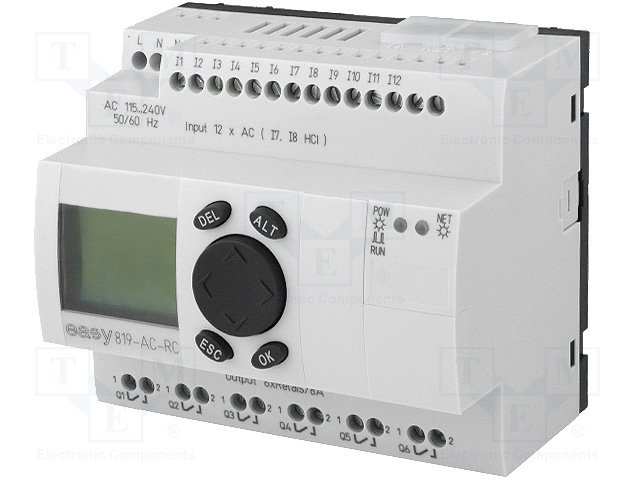 Реле прогр. основные модули,EATON ELECTRIC,EASY819-AC-RC
