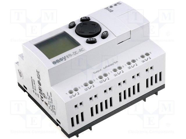 Реле прогр. основные модули,EATON ELECTRIC,EASY819-DC-RC