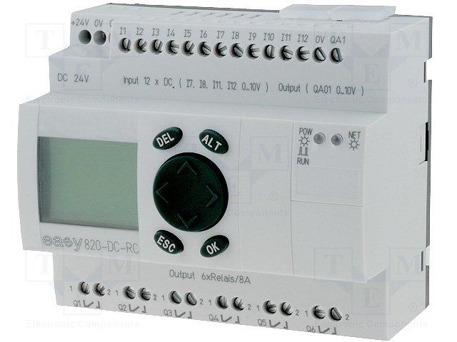 Реле прогр. основные модули,EATON ELECTRIC,EASY820-DC-RC