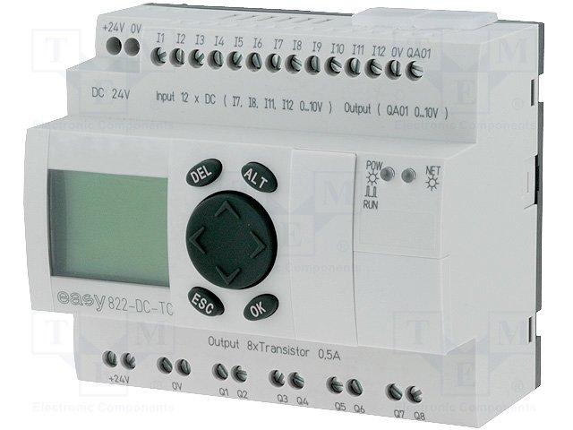 Реле прогр. основные модули,EATON ELECTRIC,EASY822-DC-TC
