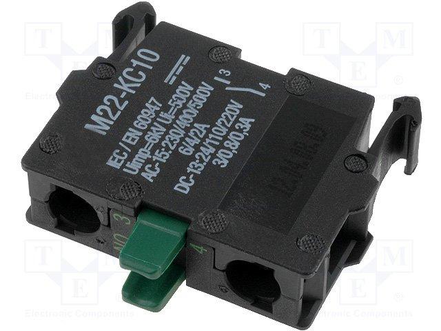 Переключатели панельные стандартные 22мм,EATON ELECTRIC,M22-KC10