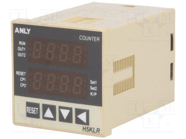 Счетчики импульсов,ANLY ELECTRONICS,H5KLR-11 12-48V AC/DC